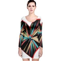 Above & Beyond Long Sleeve Velvet Bodycon Dress