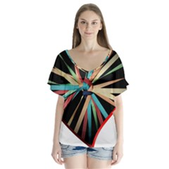Above & Beyond Flutter Sleeve Top