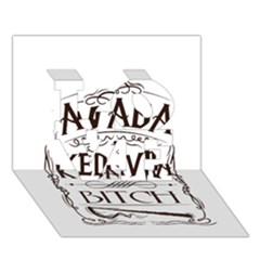Avada Kedavra Bitch Love 3d Greeting Card (7x5)