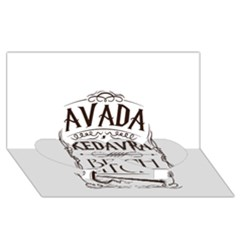 Avada Kedavra Bitch Twin Heart Bottom 3D Greeting Card (8x4)