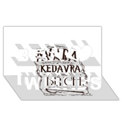 Avada Kedavra Bitch Best Wish 3d Greeting Card (8x4)