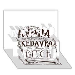 Avada Kedavra Bitch Miss You 3d Greeting Card (7x5)