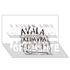 Avada Kedavra Bitch Congrats Graduate 3D Greeting Card (8x4)