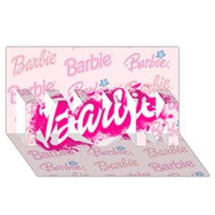 Barbie Pattern MOM 3D Greeting Card (8x4)