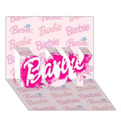 Barbie Pattern Boy 3d Greeting Card (7x5)