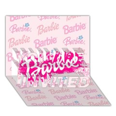 Barbie Pattern YOU ARE INVITED 3D Greeting Card (7x5)