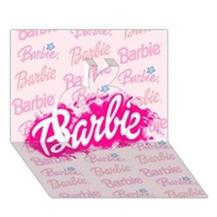 Barbie Pattern Apple 3D Greeting Card (7x5)