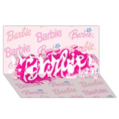 Barbie Pattern #1 Mom 3d Greeting Cards (8x4)