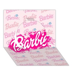 Barbie Pattern Circle 3d Greeting Card (7x5)