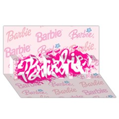 Barbie Pattern PARTY 3D Greeting Card (8x4)