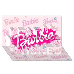 Barbie Pattern Best Wish 3d Greeting Card (8x4)