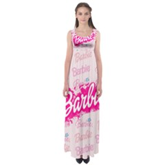 Barbie Pattern Empire Waist Maxi Dress
