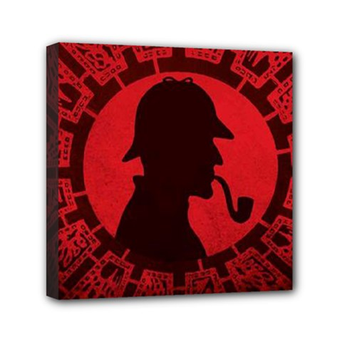 Book Cover For Sherlock Holmes And The Servants Of Hell Mini Canvas 6  X 6