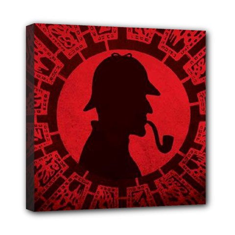 Book Cover For Sherlock Holmes And The Servants Of Hell Mini Canvas 8  X 8
