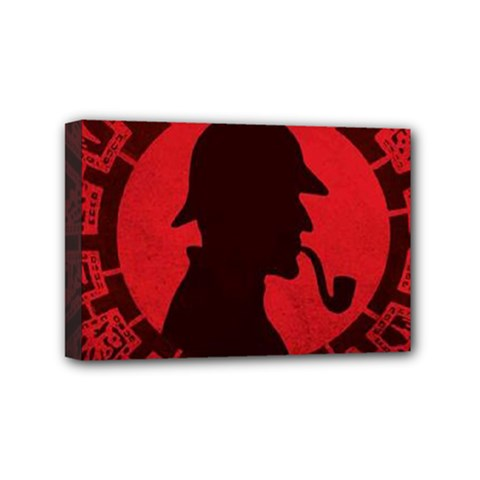 Book Cover For Sherlock Holmes And The Servants Of Hell Mini Canvas 6  X 4