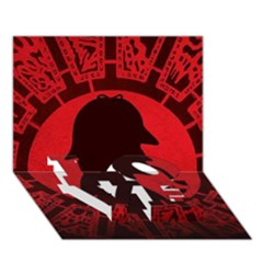 Book Cover For Sherlock Holmes And The Servants Of Hell Love Bottom 3d Greeting Card (7x5)