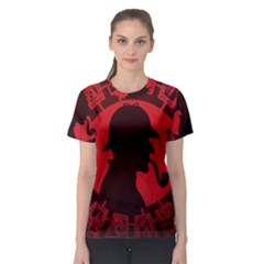 Book Cover For Sherlock Holmes And The Servants Of Hell Women s Sport Mesh Tee