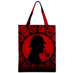 Book Cover For Sherlock Holmes And The Servants Of Hell Zipper Classic Tote Bag