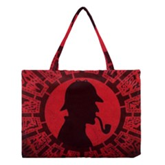 Book Cover For Sherlock Holmes And The Servants Of Hell Medium Tote Bag