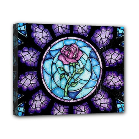Cathedral Rosette Stained Glass Beauty And The Beast Canvas 10  x 8