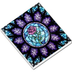 Cathedral Rosette Stained Glass Beauty And The Beast Small Memo Pads