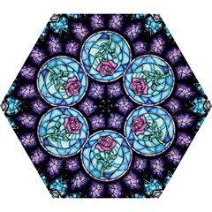 Cathedral Rosette Stained Glass Beauty And The Beast Mini Folding Umbrellas