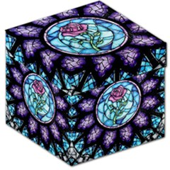 Cathedral Rosette Stained Glass Beauty And The Beast Storage Stool 12
