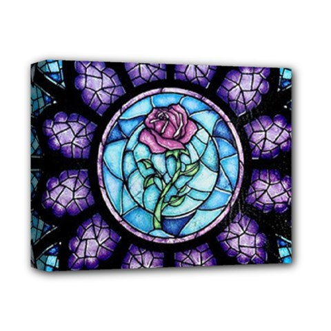 Cathedral Rosette Stained Glass Beauty And The Beast Deluxe Canvas 14  x 11