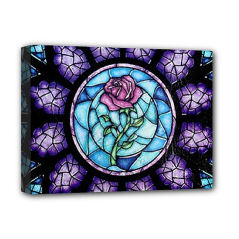 Cathedral Rosette Stained Glass Beauty And The Beast Deluxe Canvas 16  x 12