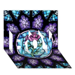 Cathedral Rosette Stained Glass Beauty And The Beast Boy 3d Greeting Card (7x5)