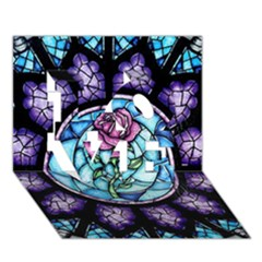 Cathedral Rosette Stained Glass Beauty And The Beast LOVE 3D Greeting Card (7x5)