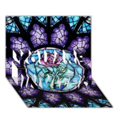 Cathedral Rosette Stained Glass Beauty And The Beast YOU ARE INVITED 3D Greeting Card (7x5)