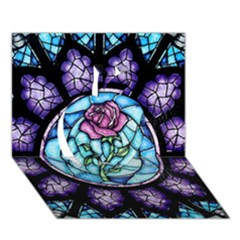 Cathedral Rosette Stained Glass Beauty And The Beast Apple 3D Greeting Card (7x5)