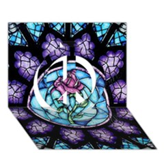 Cathedral Rosette Stained Glass Beauty And The Beast Peace Sign 3D Greeting Card (7x5)