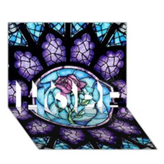 Cathedral Rosette Stained Glass Beauty And The Beast Hope 3d Greeting Card (7x5)