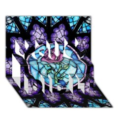 Cathedral Rosette Stained Glass Beauty And The Beast You Did It 3d Greeting Card (7x5)