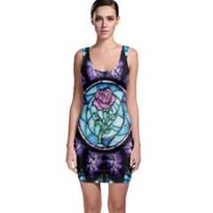 Cathedral Rosette Stained Glass Beauty And The Beast Sleeveless Bodycon Dress