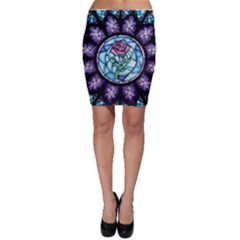 Cathedral Rosette Stained Glass Beauty And The Beast Bodycon Skirt