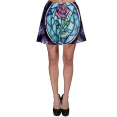 Cathedral Rosette Stained Glass Beauty And The Beast Skater Skirt
