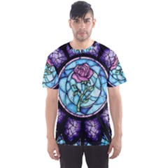 Cathedral Rosette Stained Glass Beauty And The Beast Men s Sport Mesh Tee