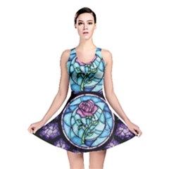 Cathedral Rosette Stained Glass Beauty And The Beast Reversible Skater Dress