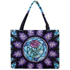 Cathedral Rosette Stained Glass Beauty And The Beast Mini Tote Bag