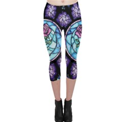 Cathedral Rosette Stained Glass Beauty And The Beast Capri Leggings