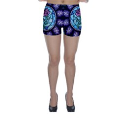 Cathedral Rosette Stained Glass Beauty And The Beast Skinny Shorts