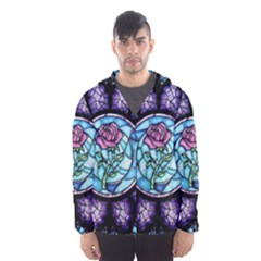 Cathedral Rosette Stained Glass Beauty And The Beast Hooded Wind Breaker (Men)
