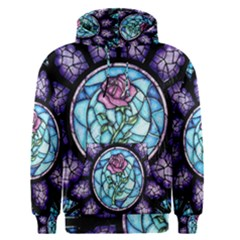 Cathedral Rosette Stained Glass Beauty And The Beast Men s Pullover Hoodie