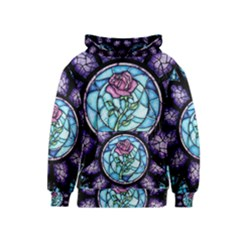 Cathedral Rosette Stained Glass Beauty And The Beast Kids  Pullover Hoodie