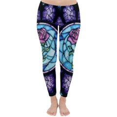 Cathedral Rosette Stained Glass Beauty And The Beast Classic Winter Leggings