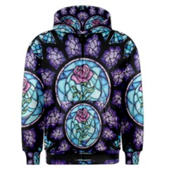 Cathedral Rosette Stained Glass Beauty And The Beast Men s Zipper Hoodie