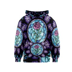 Cathedral Rosette Stained Glass Beauty And The Beast Kids  Zipper Hoodie